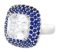 Other 14 K White Gold With Natural Blue Sapphires Ring