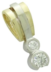 Other 14k Two Tone Gold 0.50 Carat Tcw Si1h Round Cut Diamond Journey Pendant N277