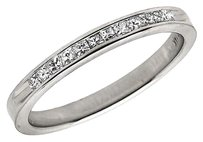 14k White Gold Invisible Princess Real Diamond Engagement Ring Band 0.25ct 2mm