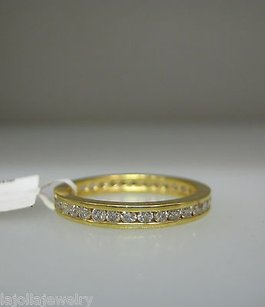 Other 14k Yellow Gold Diamond Eternity Band Ladies Ring 6.75