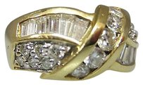 14k Yellow Gold Ladies Baguettes Diamonds 1ct Ring 6.75
