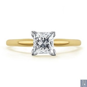 14k Yellow Gold Princess Cut Solitaire Diamond Engagement Promise Ring 12 Ct