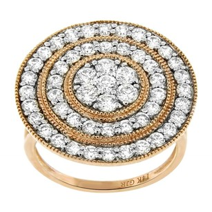 Other 1.88ct Diamond 14k Rose Gold Circle Cocktail Ring 5-8