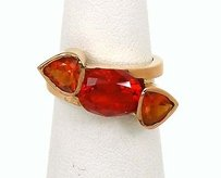 Other 18k Rose Gold Natural Mexican Opals Ladies Cocktail Ring