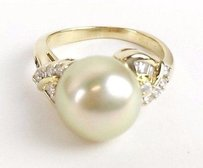 Other 18k Yg Diamond Pearl Ring Apx .44ctw Max063609
