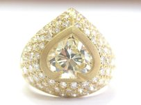 Other 18kt Spade Shape Fancy Light Yellow Diamond Ring Yg 4.49ct