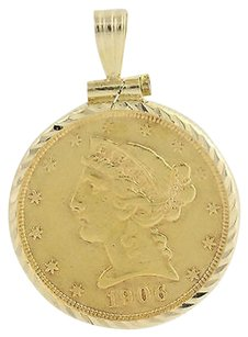 Other 1906 United States Coin Pendant - 14k Gold 900 Fine Gold Coin