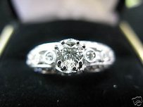 18kt Heart Shape Diamond Engagement Ring Wg