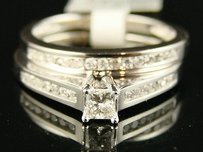 10k Solitaire Bridal Engagement Diamond Ring .50 Ct