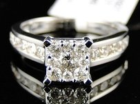 1.0 Ct 14k Womens White Gold Diamond Round Cut Engagement Wedding Ring