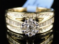 10k Womens Yellow Gold White Diamond Engagement Bridal Solitaire Ring
