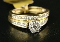 14k Ladies Flower Bridal Engagement Diamond Ring .50
