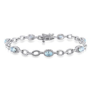 Other Sterling Silver 1 78 Ct Sky Blue Topaz Bracelet Length Inches 7.25