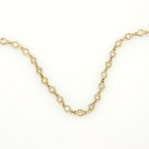 4.70ct Diamond By The Yard Eternity Necklace In 14k Yellow Gold 30l