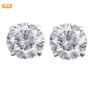 Other 5.25 Ct Round Brilliant Cut Solitaire Studs 14K white Gold #9626
