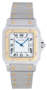 Cartier Cartier Santos Stainless Steel and 18K Yellow Gold Automatic Men's Watch