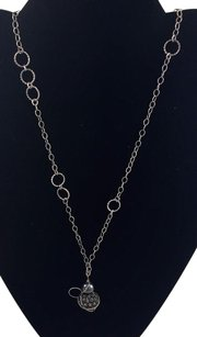 .925 Sterling Silver Chain Necklace W Ball Pendent 28