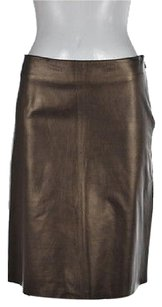 Other Bergdorf Goodman Womens Metallic Party Skirt Brown