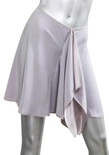 Other Alexis Mabille Impasse Womens Ruffle Short Mini Skirt Silver