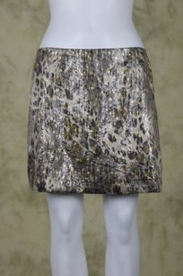 Lush Womens Mini Skirt Taupe / Gold / Silver / Gray
