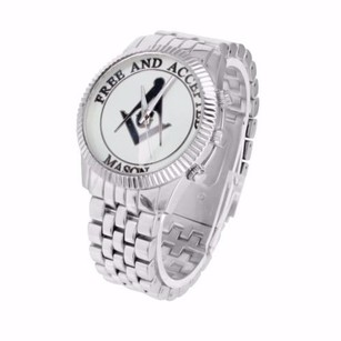 And Accepted Masonic White Dial Metal Jubilee Band Rodeo Jojo Jojino Watch