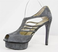 Mary Ching Womens Gray Suede Grays Platforms