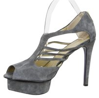 Other Mary Ching Womens Suede High Heel Pump Sandal Grays Platforms