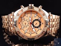 Aqua Master Jojo Joe Rodeo Rose Gold Tone Mm W351 Genuine Diamond Watch