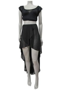 Love Man Lf Chiffon Skirt Black