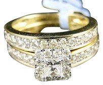 Other 14k Ladies Princes Bridal Diamond Wedding Set Ring 1.0c