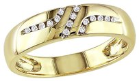 Other 10k Yellow Gold 110 Ct Diamond Wedding Band Ring Gh I2-i3