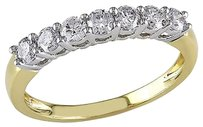 14k Yellow Gold 12 Ct Diamond Anniversary Ring Gh I1-i2