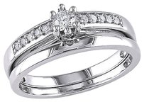 Sterling Silver 14 Ct Diamond Tw Bridal Set Ring Gh I2-i3