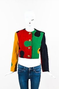 Moschino Cheap And Chic Red Multi-Color Jacket
