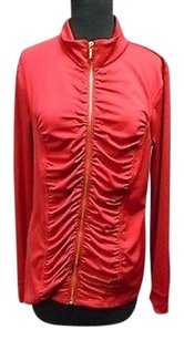 Other Ellen Tracy Active Crimson Polyester Blend Full Zip 2605a Red Jacket