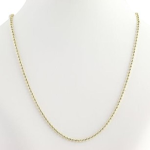 Bead Chain Necklace 12 - 14k Yellow Gold Spring Ring Womens Fine Estate