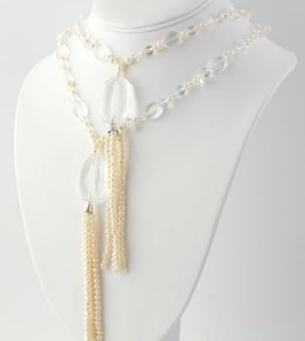 Beaded Quartz Freshwater Pearl Necklace 72- With Pendants Womens