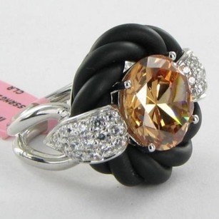 Other Belle Etoile Blackchampagne Cornice Ring 925 Cubic Zirconia