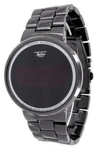 Black Pvd Watch Smart Touch Screen Display Techno Pave Metal Band Unique Unisex
