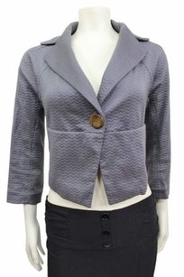 Other Coquille Anthropologie 34 Sleeve Dynamism Dolman Cropped Blazer 0 Gray Jacket