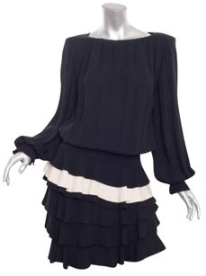 Other Galanos Vintage Womens Ruffle Blouson Dress