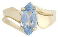Blue Topaz Bypass Ring - 10k Yellow Gold Womens Solitaire 2.00ct