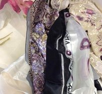 Boutique Lot Of Vintage Silk Multicolor And Pattern Casual Scarves B2197 I
