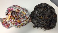 Boutique Lot Of White Floral Black Floral Geometric Rectangular Scarves B3275