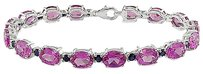 Other Sterling Silver Created Pink Sapphire And Sapphire Bracelet 7.5 33.76 Ct