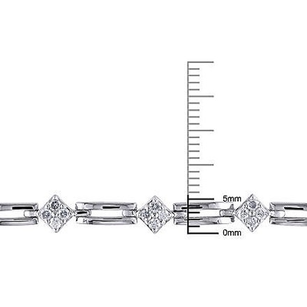 Other Sterling Silver Diamond Accent Bracelet 1 Ct G-h I3 7.25
