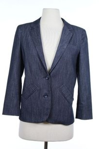 Other Cabe Womens Navy Solid Blazer Long Sleeve Cotton Blend Basic Jacket