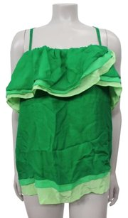 Other Madison Marcus For Barneys Layered Ruffle Cross Back Top Green