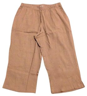 Other D And Co Denim And Company Crepe Textured Capris 3680 A Capri/Cropped Pants Brown