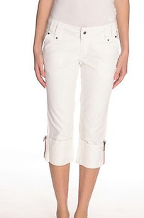 Industry Jeans Twill Cotton Capri/Cropped Pants White